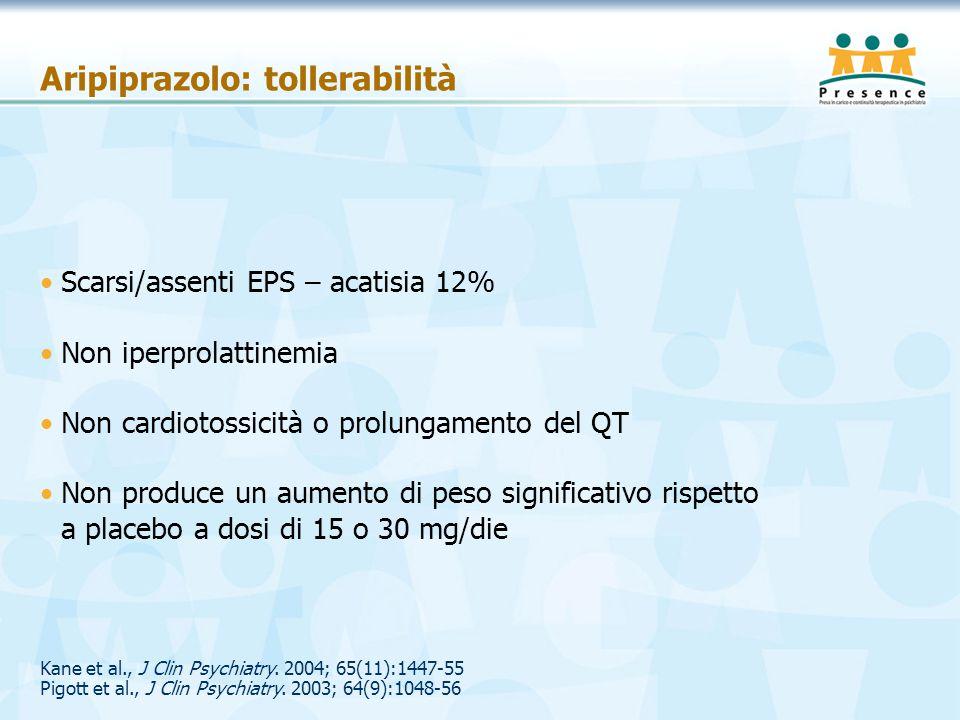 Aripiprazolo: tollerabilità