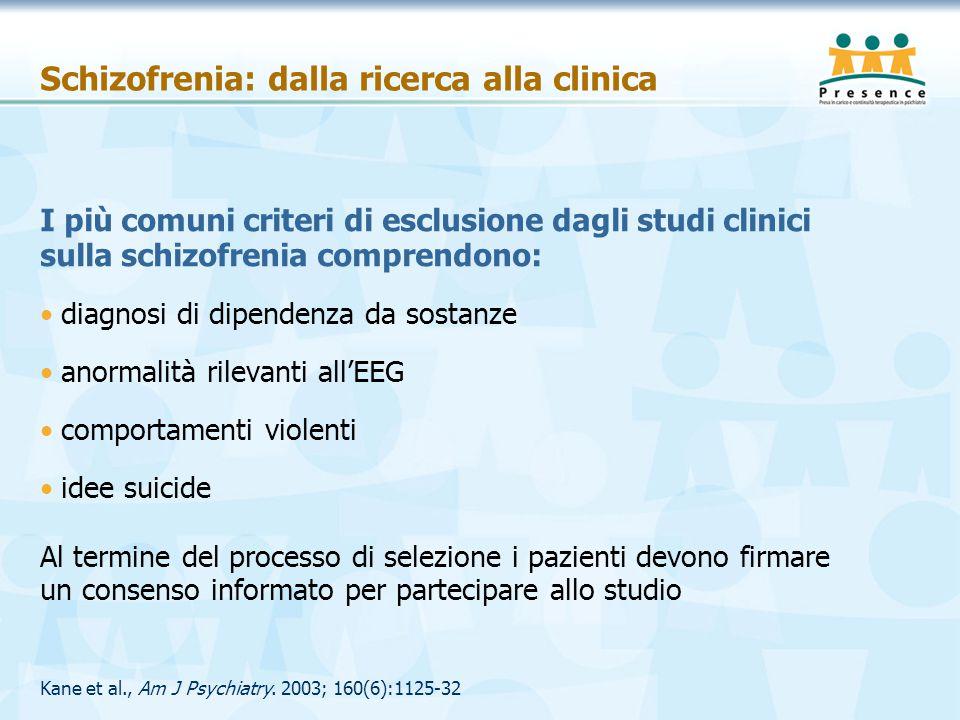 Schizofrenia: dalla ricerca alla clinica