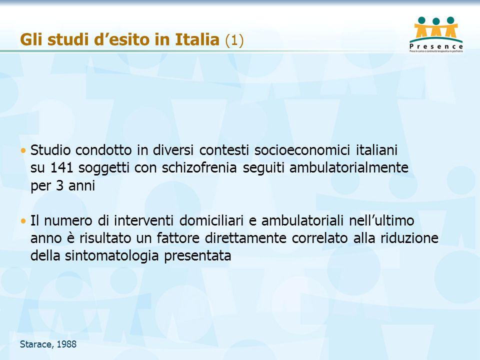Gli studi d'esito in Italia (1)