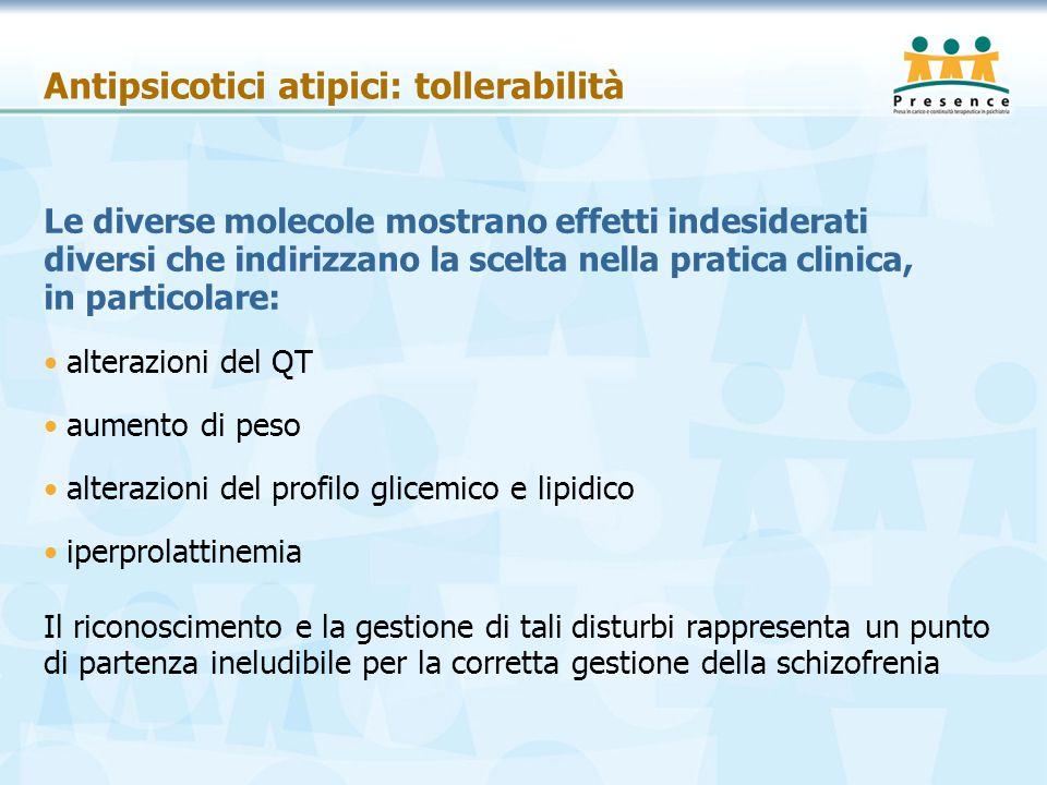 Antipsicotici atipici: tollerabilità