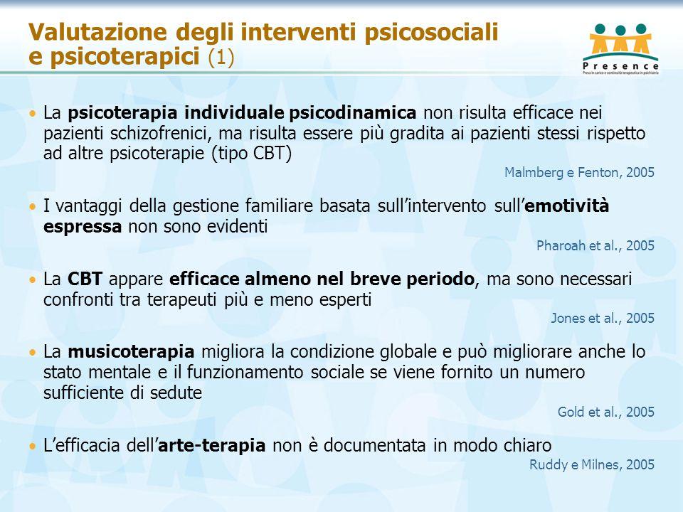 Valutazione degli interventi psicosociali e psicoterapici (1)