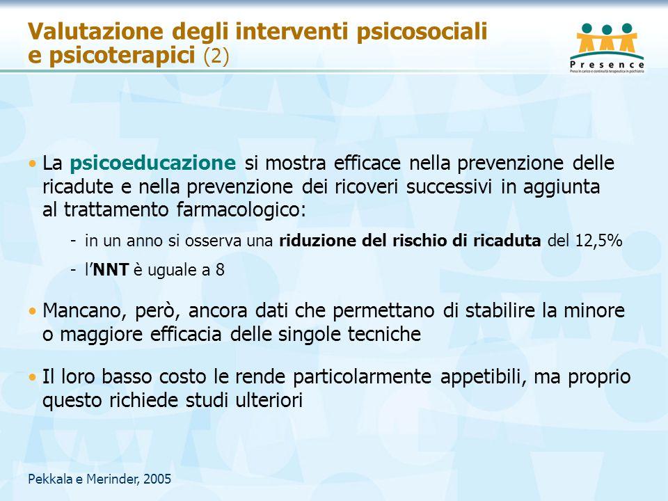 Valutazione degli interventi psicosociali e psicoterapici (2)