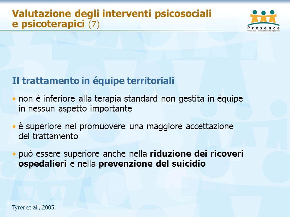Valutazione degli interventi psicosociali e psicoterapici (7)