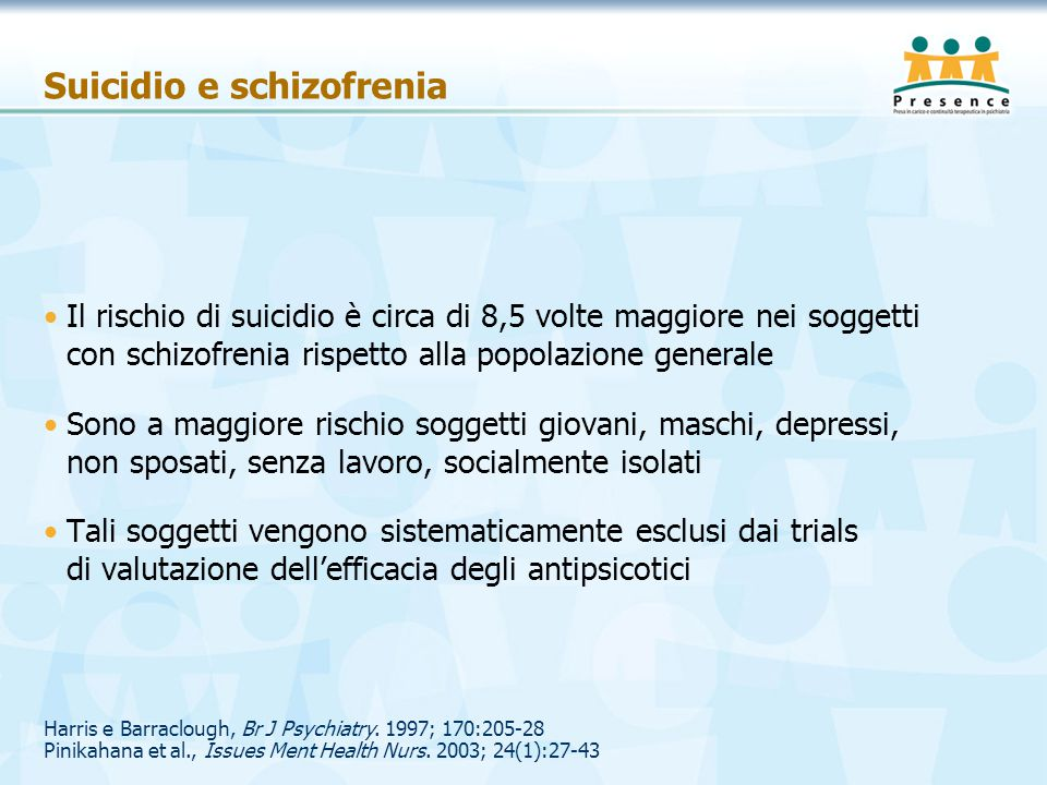 Suicidio e schizofrenia