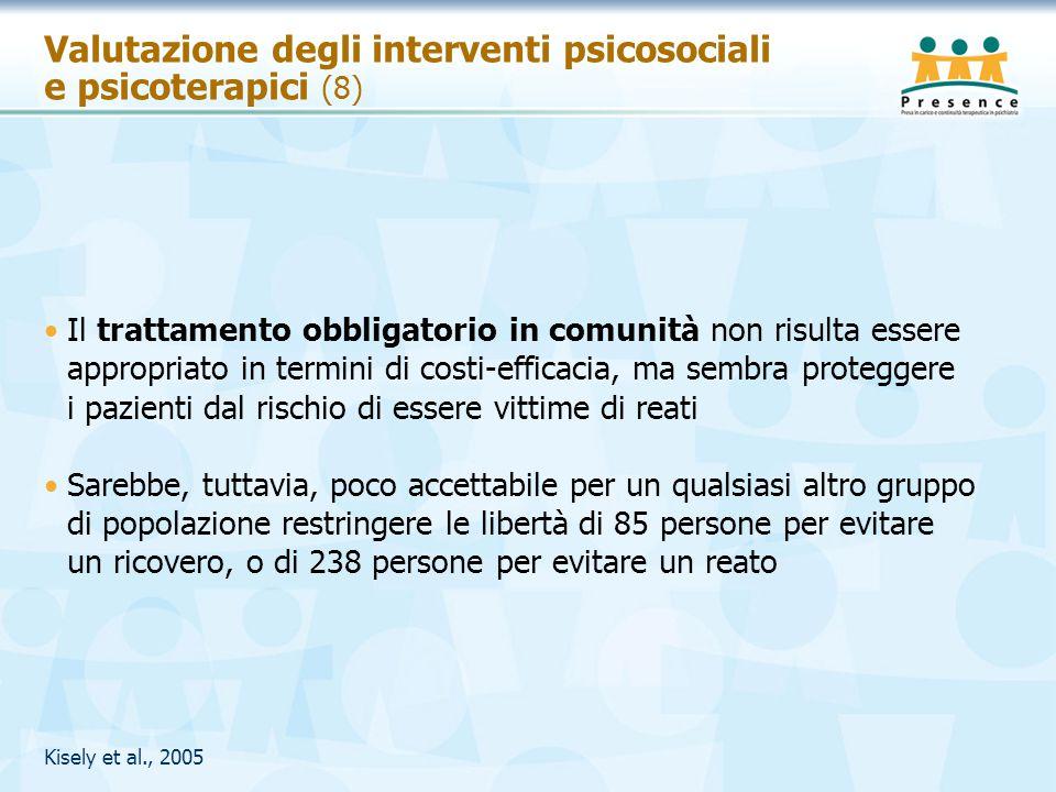Valutazione degli interventi psicosociali e psicoterapici (8)