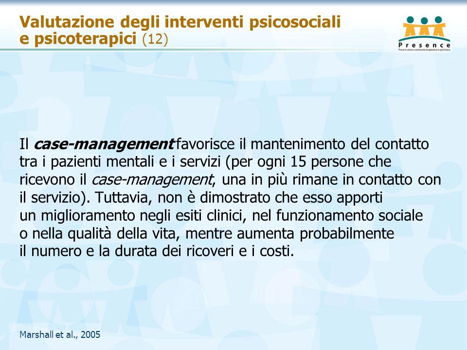 Valutazione degli interventi psicosociali e psicoterapici (12)