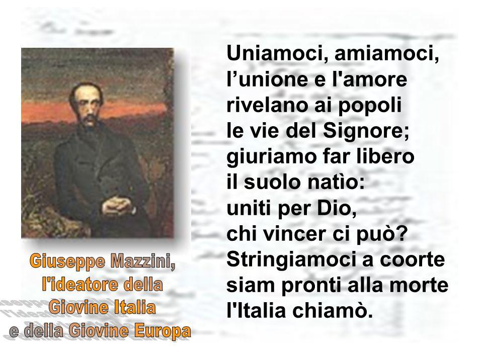 Giuseppe Mazzini, l ideatore della Giovine Italia
