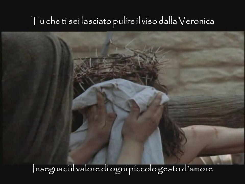 Tu che ti sei lasciato pulire il viso dalla Veronica