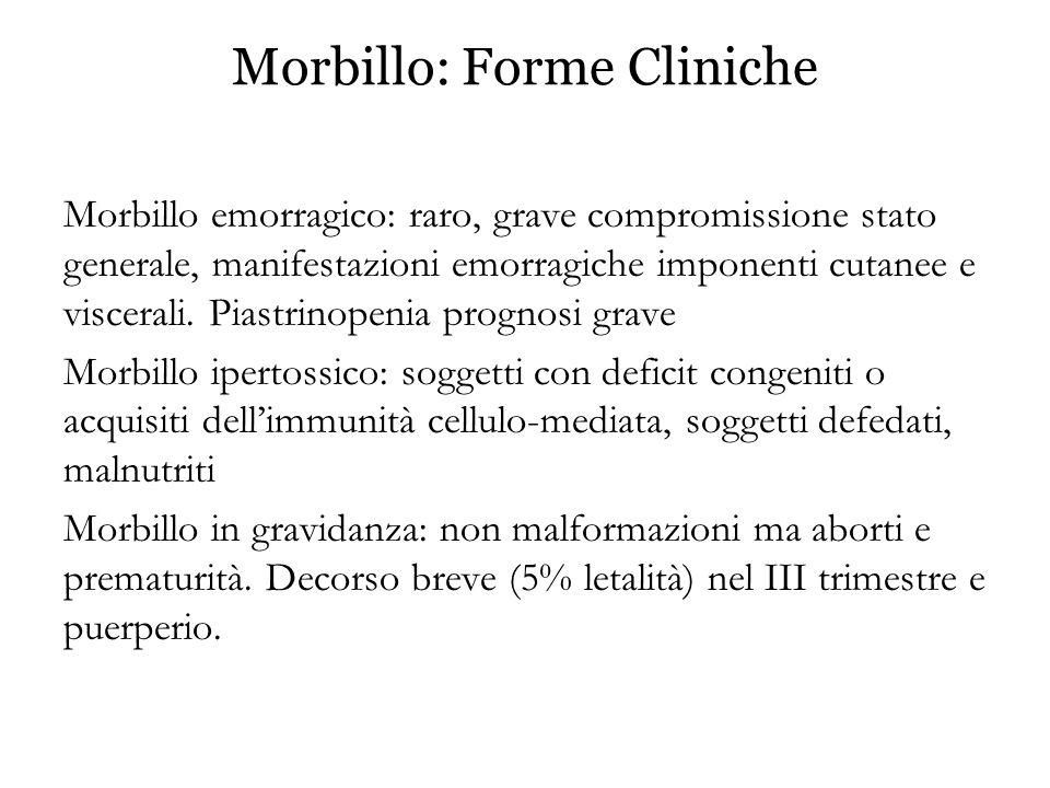 Morbillo: Forme Cliniche