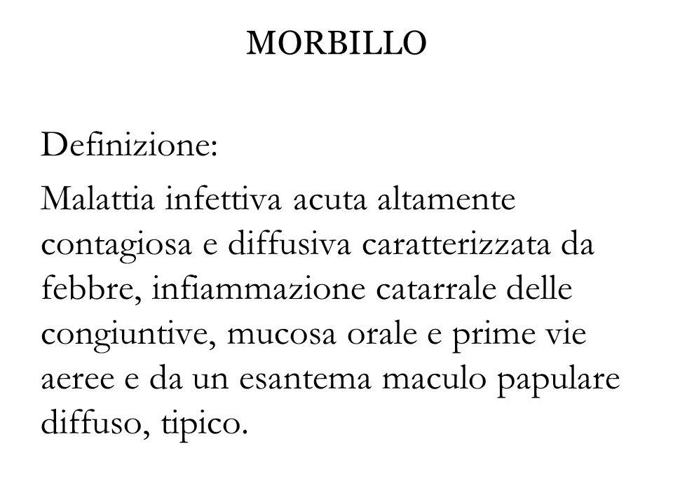 MORBILLO Definizione: