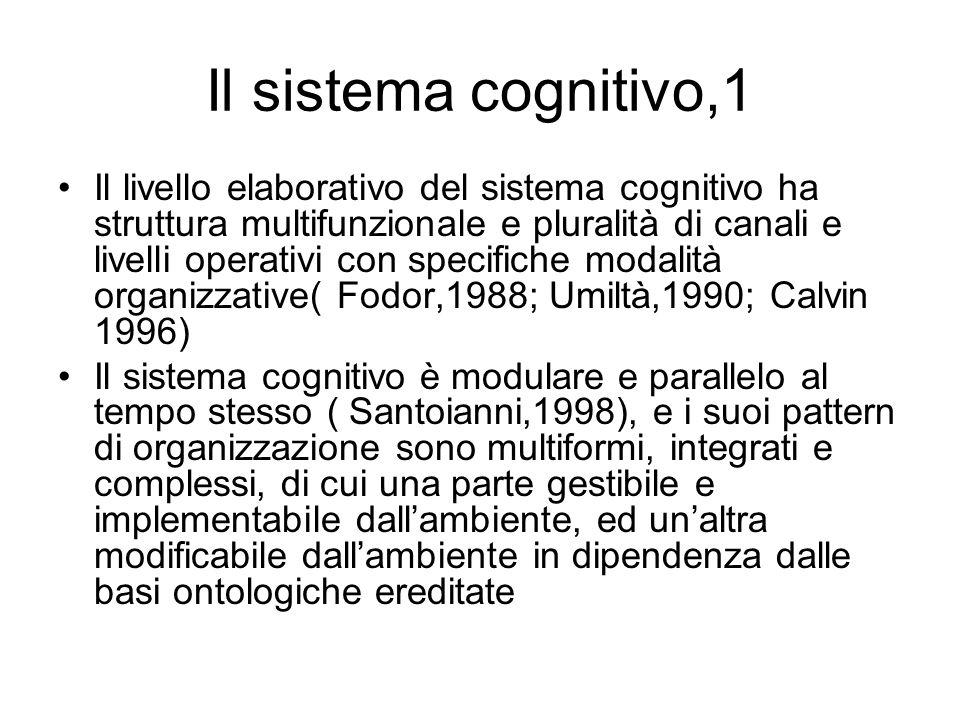 Il sistema cognitivo,1
