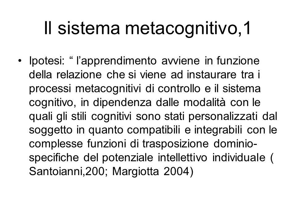 Il sistema metacognitivo,1