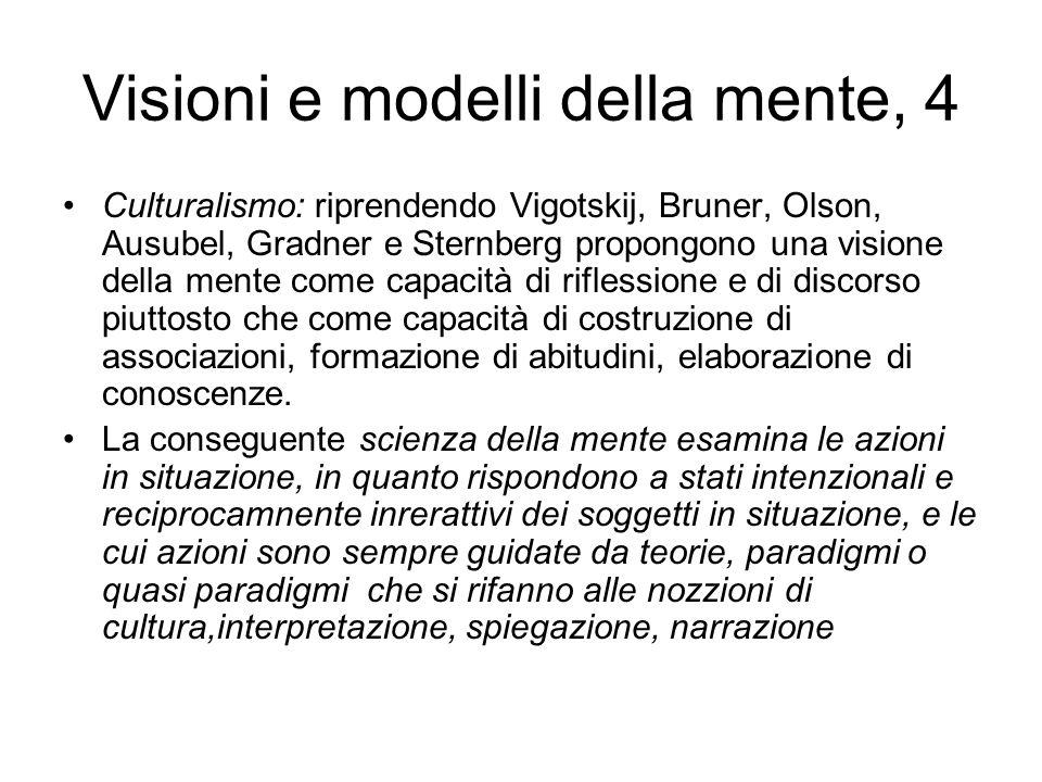Visioni e modelli della mente, 4
