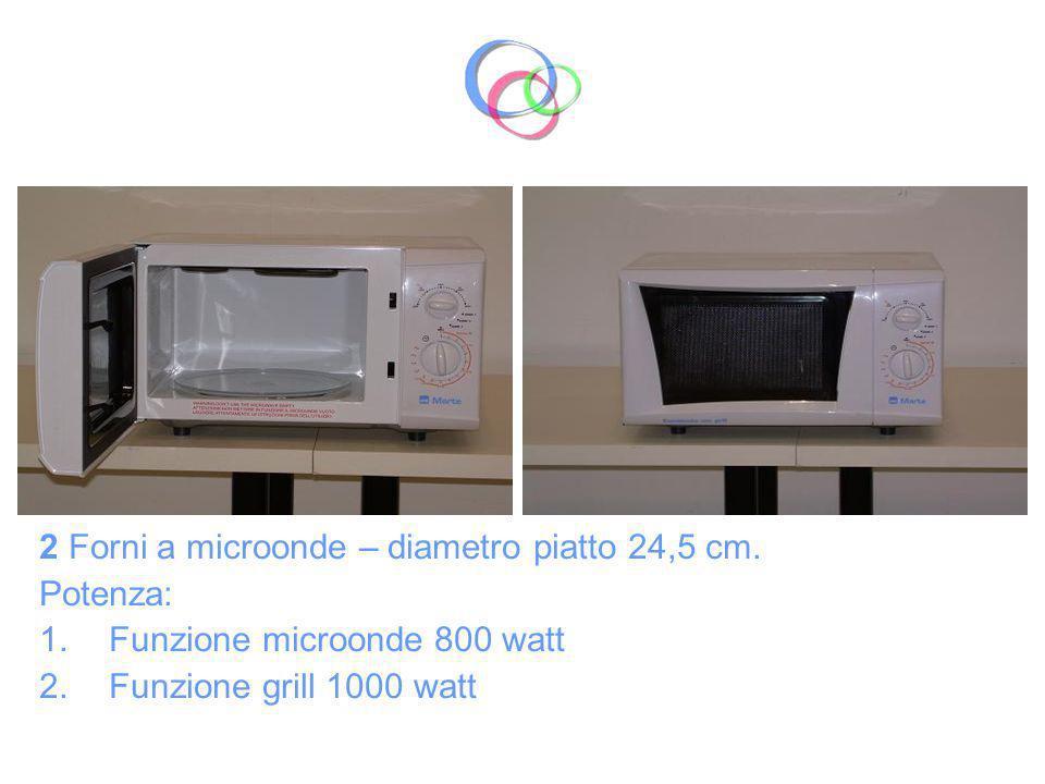 2 Forni a microonde – diametro piatto 24,5 cm.