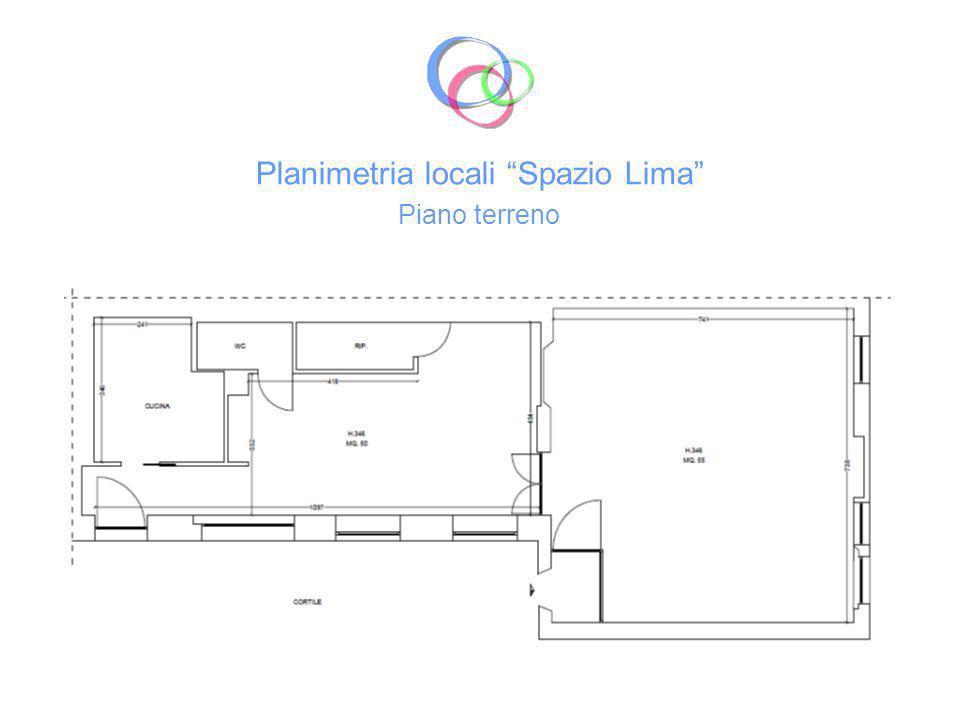 Planimetria locali Spazio Lima