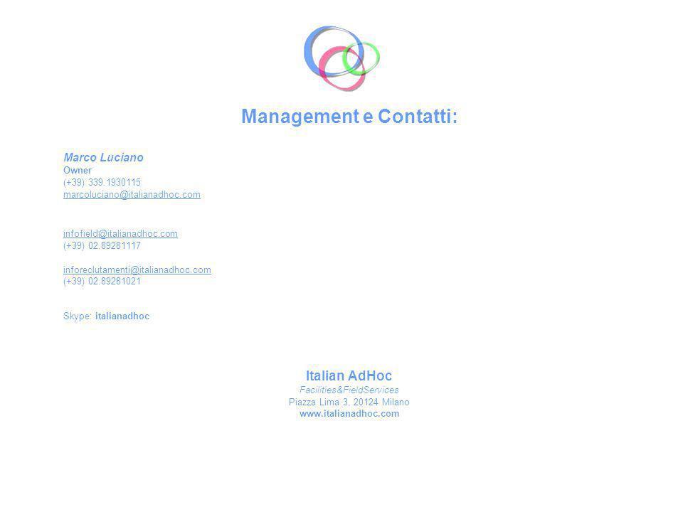 Management e Contatti: