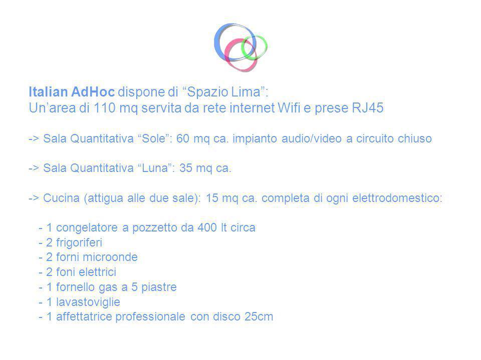Italian AdHoc dispone di Spazio Lima :