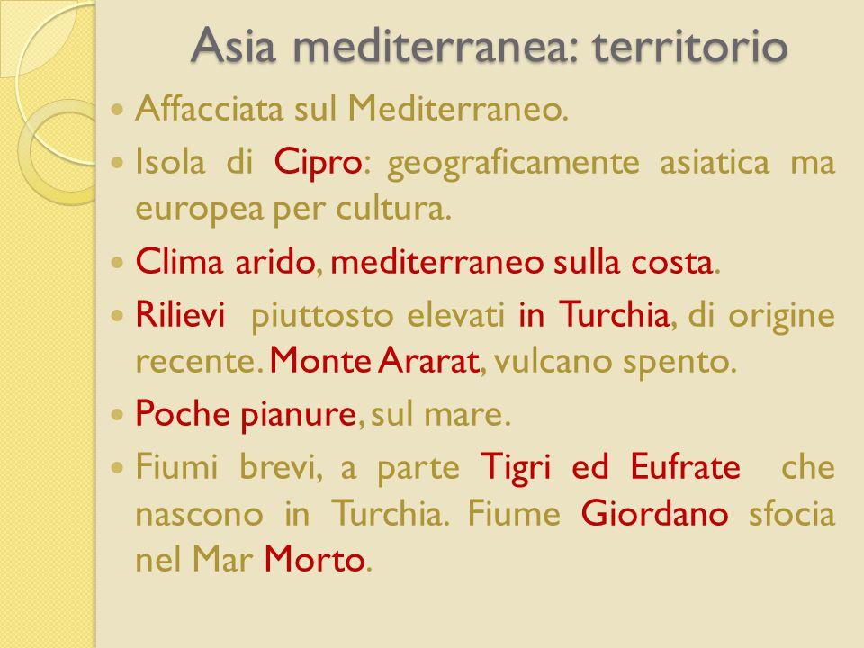 Asia mediterranea: territorio