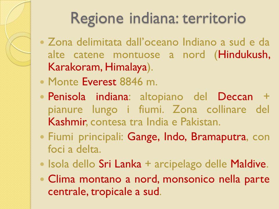 Regione indiana: territorio