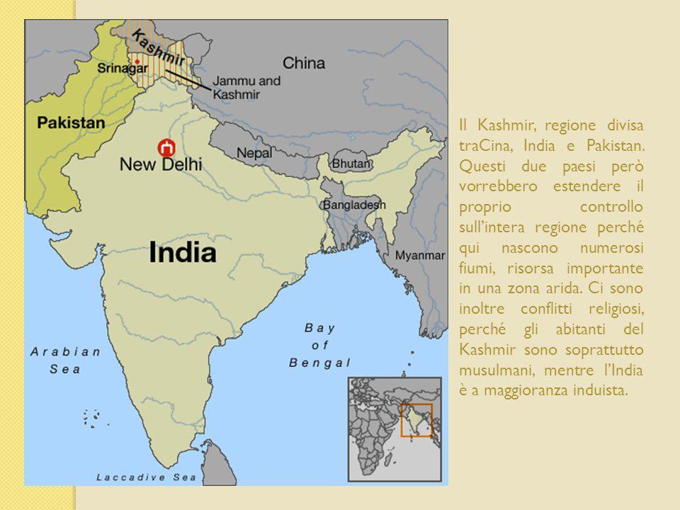 Il Kashmir, regione divisa traCina, India e Pakistan