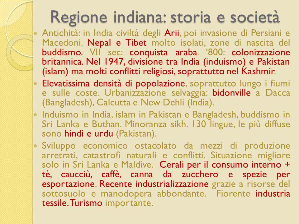 Regione indiana: storia e società