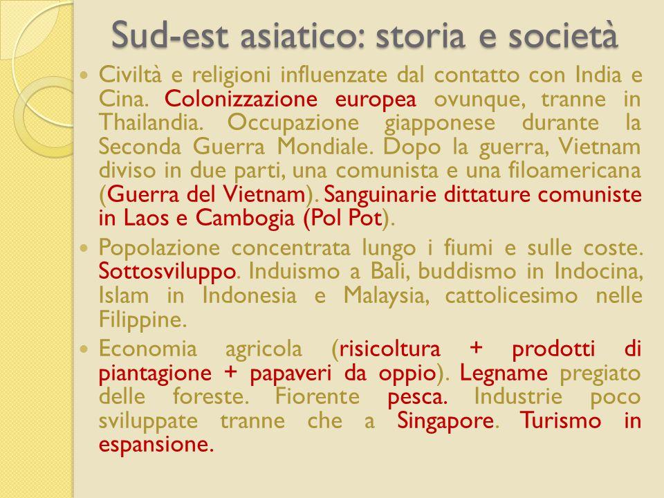 Sud-est asiatico: storia e società