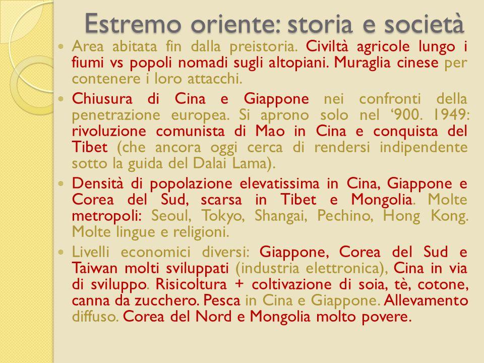 Estremo oriente: storia e società