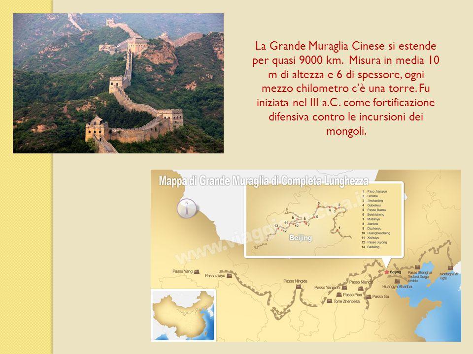 La Grande Muraglia Cinese si estende per quasi 9000 km