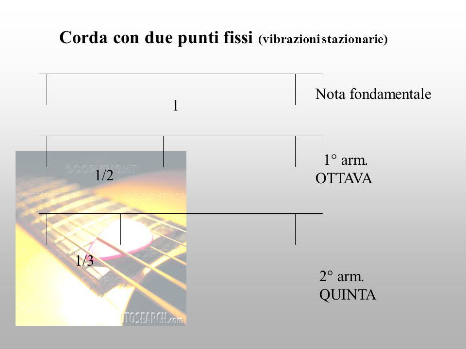 Corda con due punti fissi (vibrazioni stazionarie)