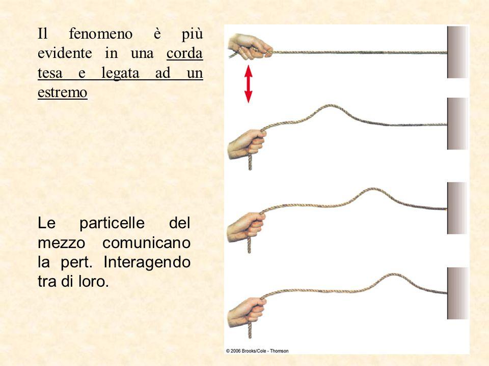 Il fenomeno è più evidente in una corda tesa e legata ad un estremo