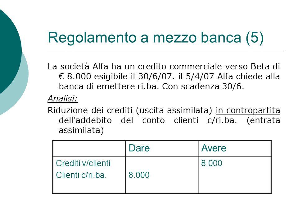Regolamento a mezzo banca (5)