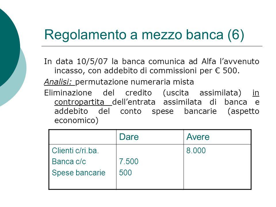 Regolamento a mezzo banca (6)