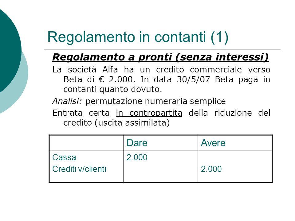 Regolamento in contanti (1)