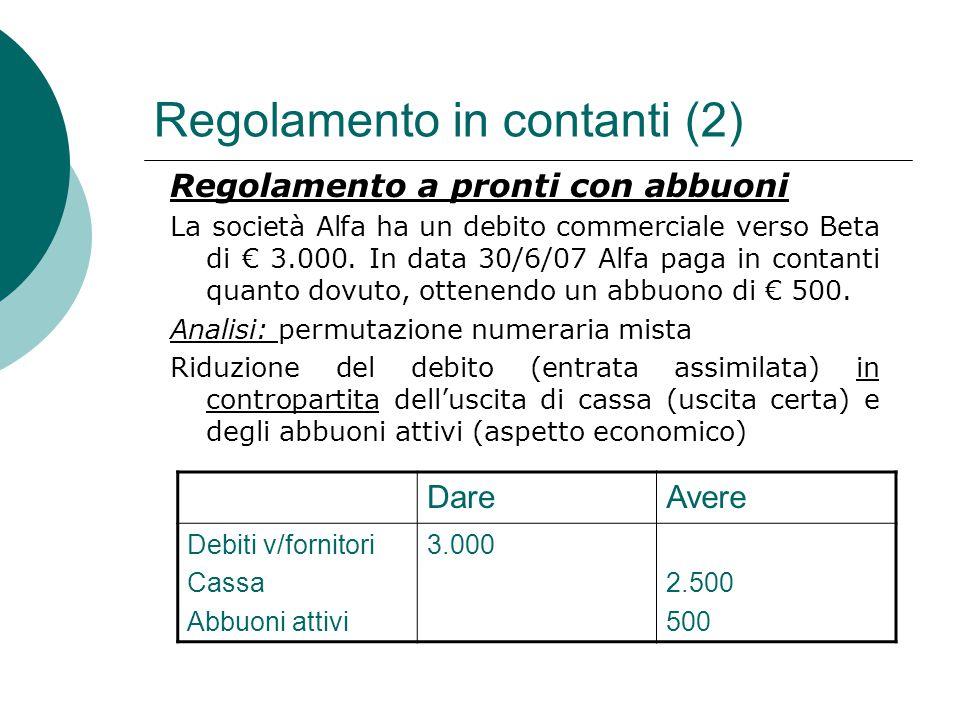 Regolamento in contanti (2)