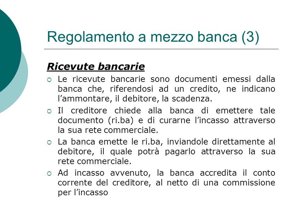 Regolamento a mezzo banca (3)