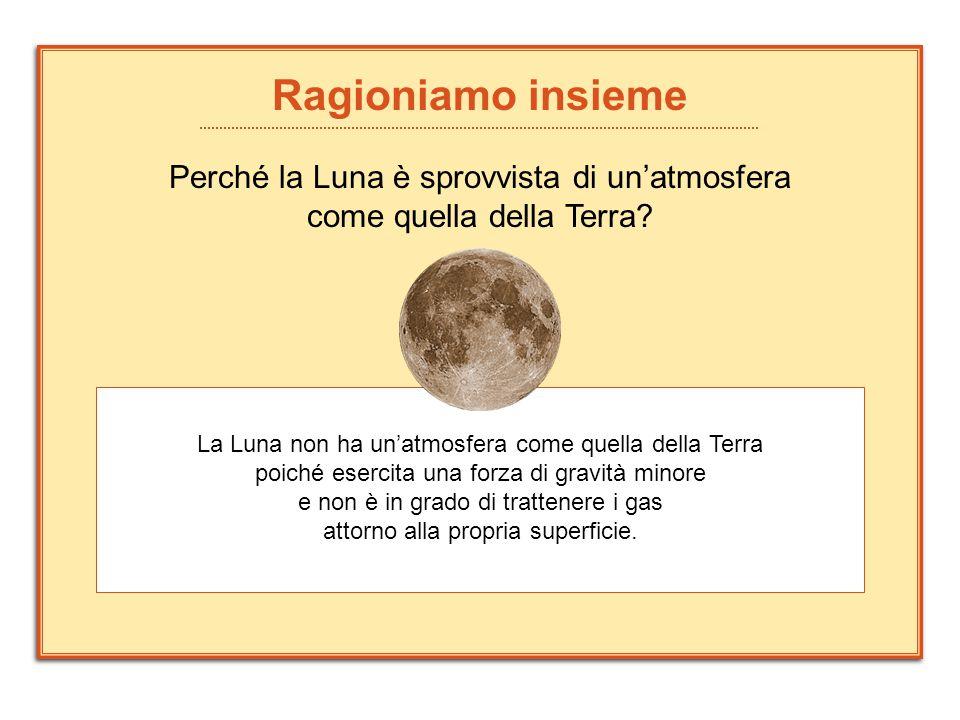 Perché la Luna è sprovvista di un'atmosfera come quella della Terra