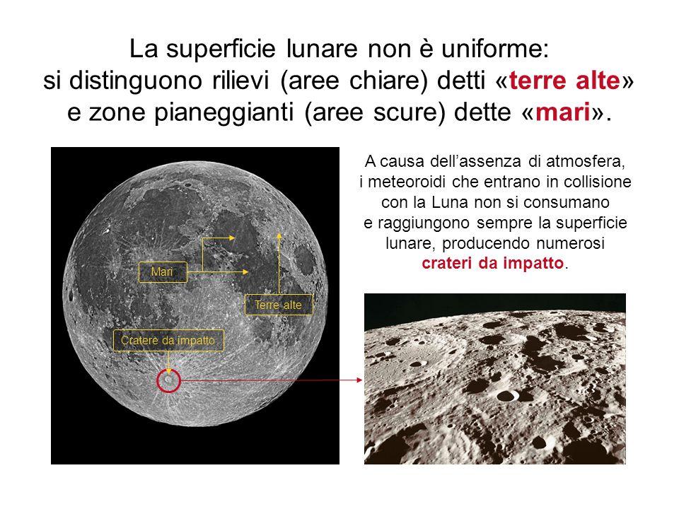 La superficie lunare non è uniforme: