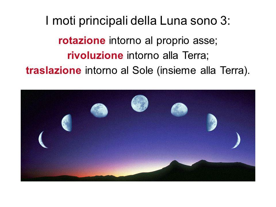I moti principali della Luna sono 3: