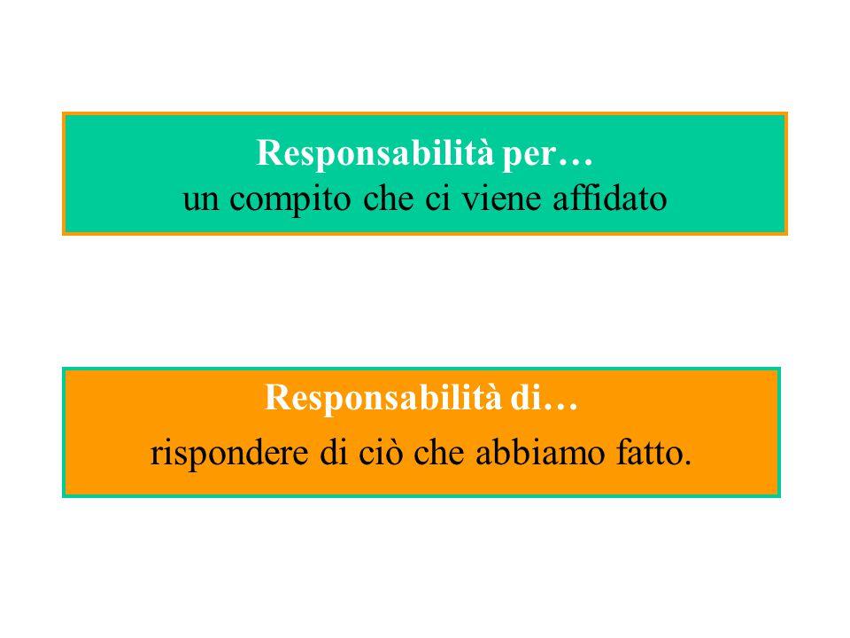 Responsabilità per… un compito che ci viene affidato