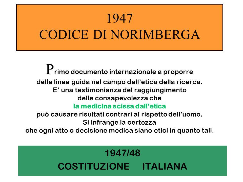 1947/48 COSTITUZIONE ITALIANA