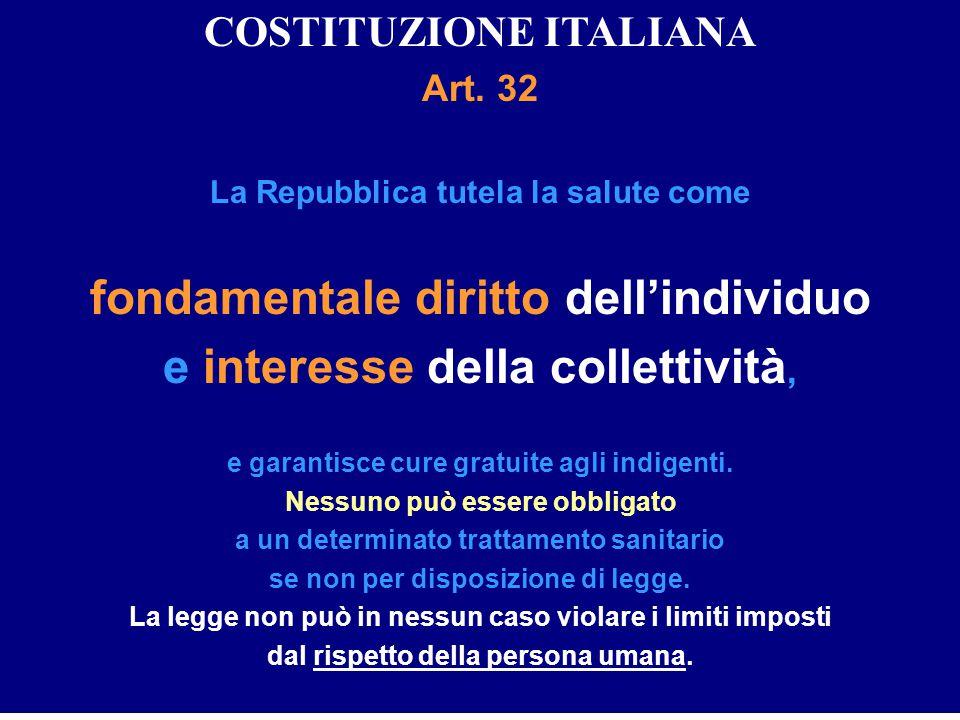 fondamentale diritto dell'individuo e interesse della collettività,