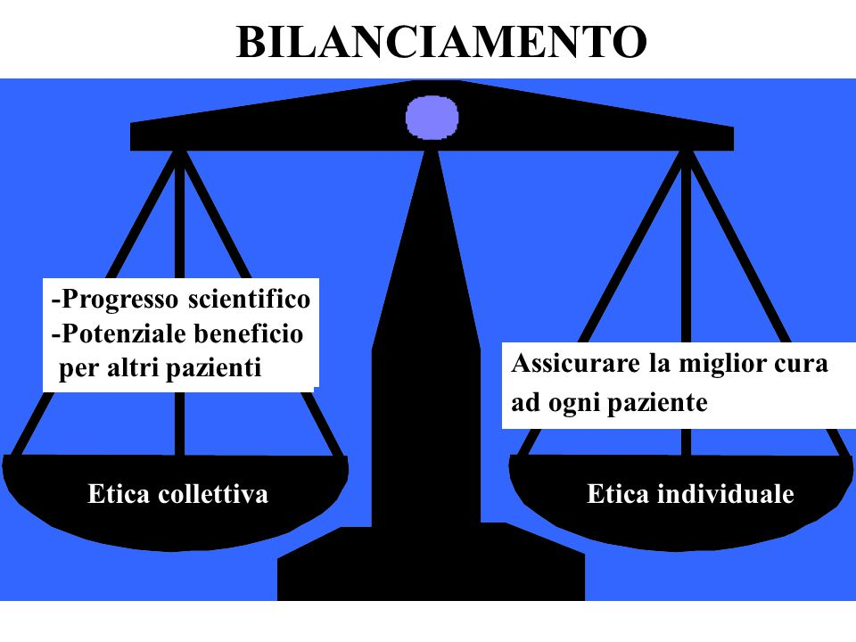 BILANCIAMENTO -Progresso scientifico -Potenziale beneficio