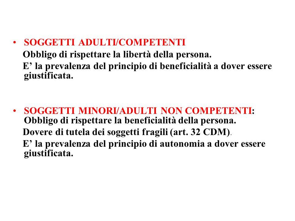 SOGGETTI ADULTI/COMPETENTI