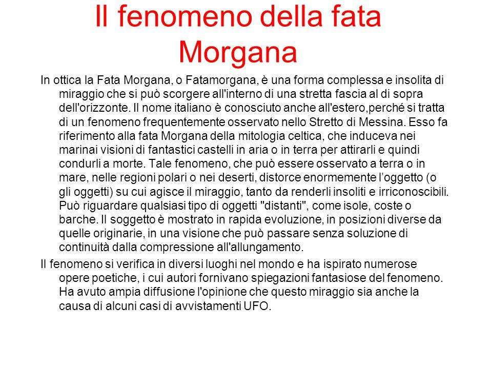 Il fenomeno della fata Morgana
