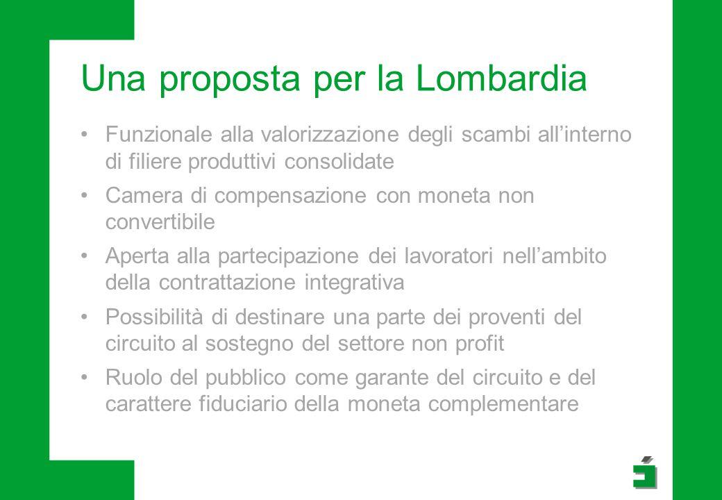 Una proposta per la Lombardia