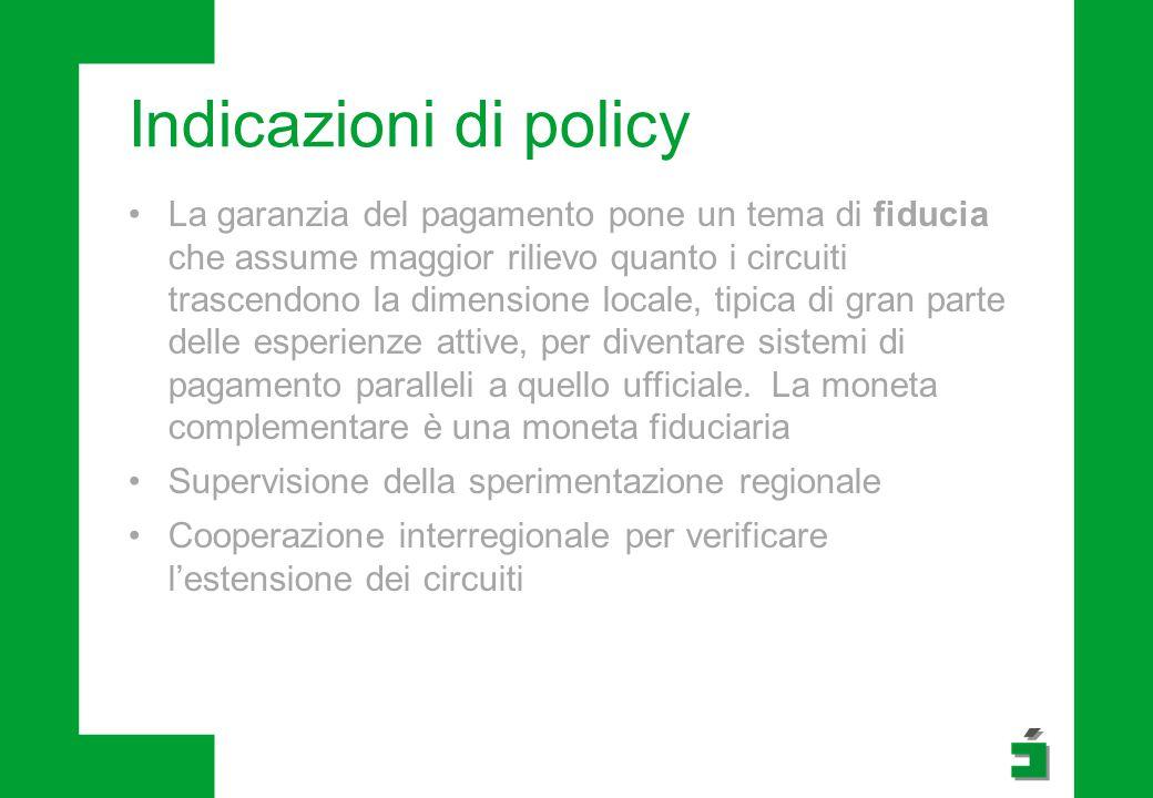 Indicazioni di policy
