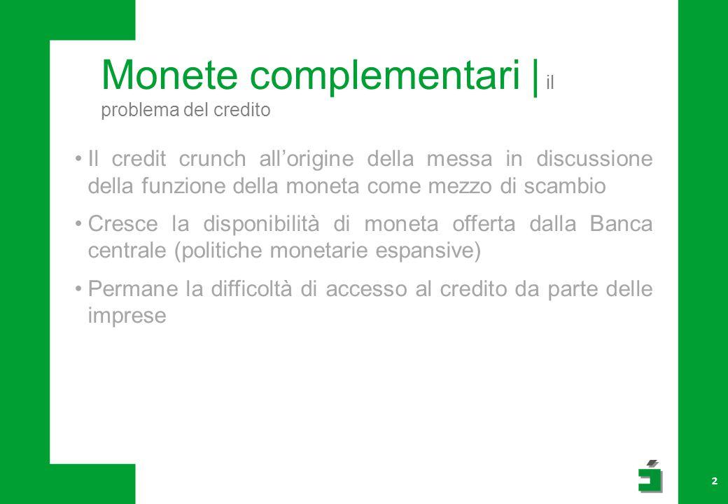 Monete complementari | il problema del credito