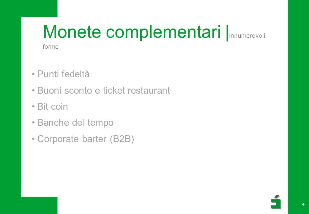 Monete complementari |innumerovoli forme