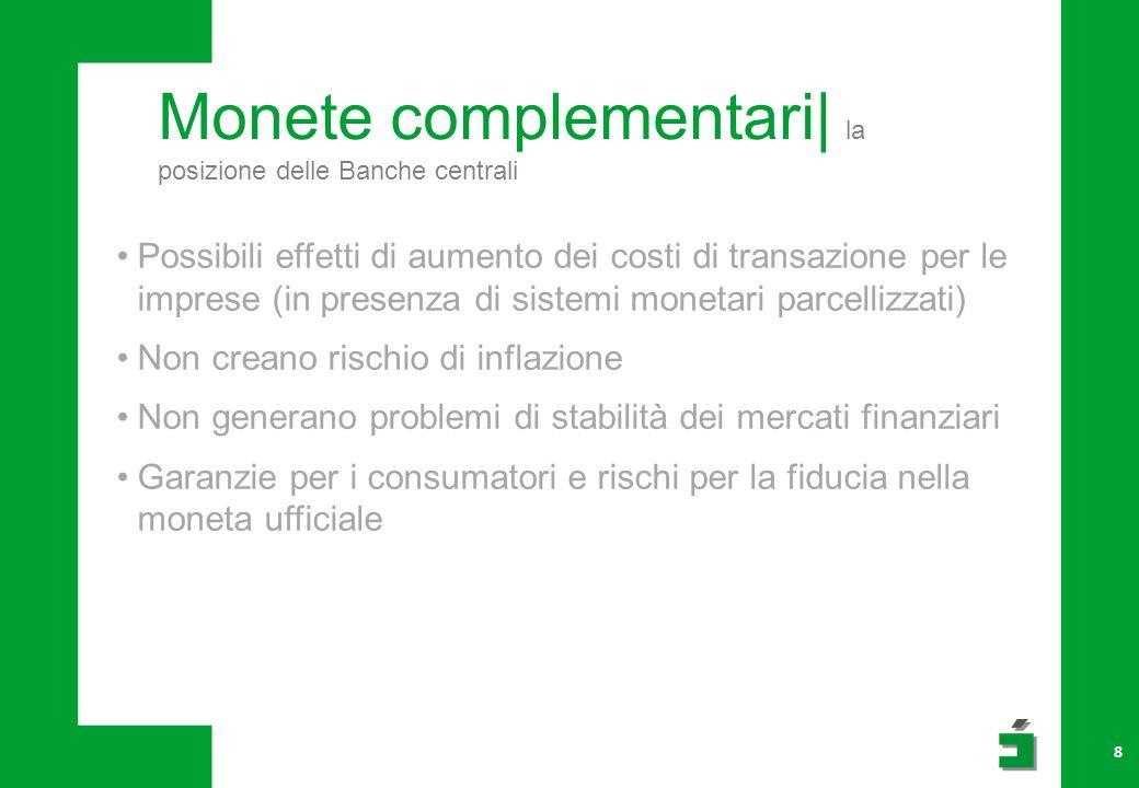 Monete complementari| la posizione delle Banche centrali