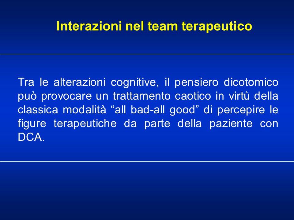 Interazioni nel team terapeutico
